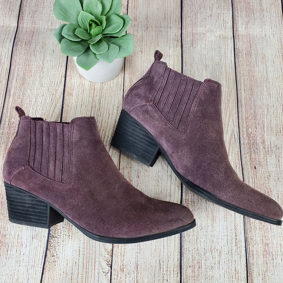 Crown Vintage Purple Suede Ankle Boots 6.5M